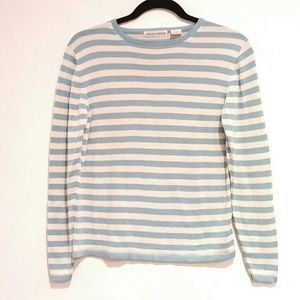 Evelyn and Arthur 100% silk stripe sweater small